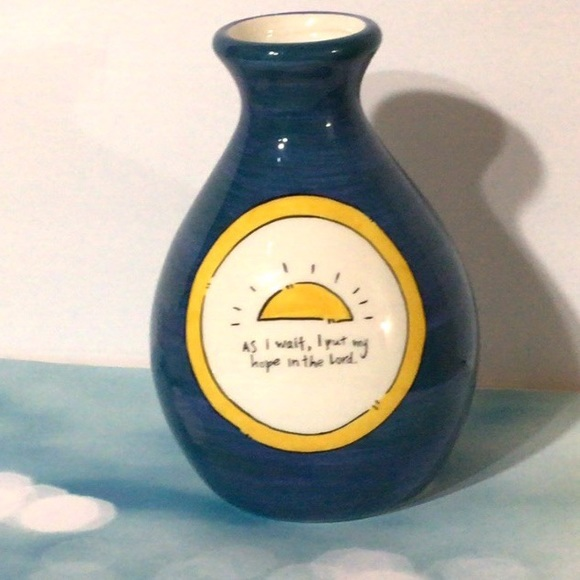"""""""As I Wait, I Put My Hope in the Lord"""" Small Vase"""